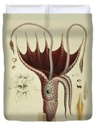 Squid Duvet Cover by A Chazal