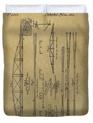 Squire Whipple Truss Bridge Patent Duvet Cover