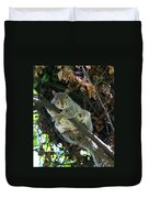 Squirrel By Nest Duvet Cover