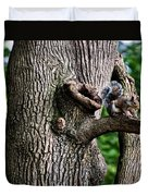 Squirrel Guarding Watering Knot Duvet Cover