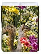 Squirrel In The Botanic Garden-dallas Arboretum V4 Duvet Cover