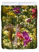 Squirrel In The Botanic Garden-dallas Arboretum V5 Duvet Cover
