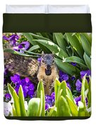 Squirrel In The Botanic Garden Duvet Cover