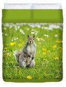 Squirrel Patrol Duvet Cover