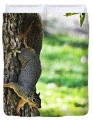 Squirrel With Pecan Duvet Cover