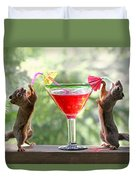 Squirrels At Cocktail Hour Duvet Cover