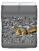 Squirrling Around Looking For Nuts Duvet Cover