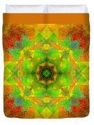 Sri Yantra Variation Mandala Duvet Cover