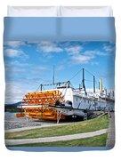 Ss Klondike Sternwheeler From Stern On The Yukon River In Whitehorse-yk Duvet Cover
