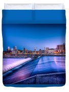 St. Anthony Falls In Minneapolis Duvet Cover