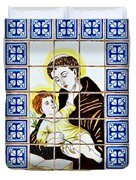 St Anthony Of Padua Duvet Cover