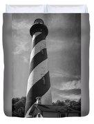 St Augustine Lighthouse Bw Duvet Cover