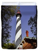 St Augustine Lighthouse - Old Florida Charm Duvet Cover by Christine Till