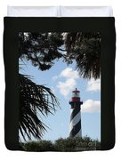 St. Ausgustine Lighthouse Duvet Cover