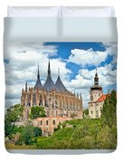 St Barbara Church Kutna Hora Duvet Cover
