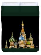 St. Basil's Cathedral At Night Duvet Cover
