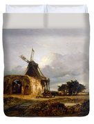 St Benets Abbey And Mill, Norfolk, 1833 Duvet Cover