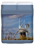 St Benets Drainage Mill Norfolk Duvet Cover