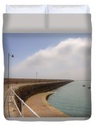 St Catherine's Breakwater - Jersey Duvet Cover by Joana Kruse