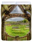 St Celynnin Graveyard Duvet Cover