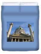 St Charles Church Vienna Austria Duvet Cover