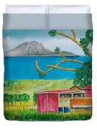 St. Eustatis From St. Kitts Duvet Cover