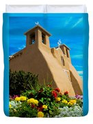 St Francis D'asis Mission Church. Taos New Mexico Duvet Cover