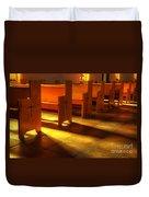 St Francis De Paula Shadow And Light Duvet Cover by Bob Christopher