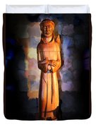 St. Francis Of Assisi By George Wood Duvet Cover