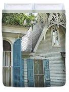 St Francisville Inn Windows Louisiana Duvet Cover