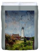 St. George Island Historic Lighthouse Duvet Cover