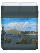 St Georges River Near Como Marina  Duvet Cover