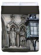 St Giles Church Statues 6600 Duvet Cover