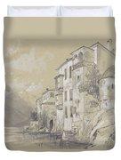 St Giulio Orta Duvet Cover by Edward Lear
