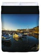 St Hellier Harbour  Duvet Cover