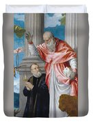 St. Jerome And A Donor Duvet Cover
