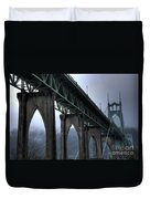 St Johns Bridge Oregon Duvet Cover
