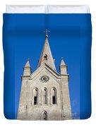 St. John's Church Cesis Duvet Cover