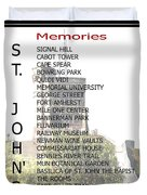 St. John's Memories Duvet Cover