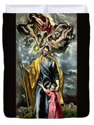 Saint Joseph And The Christ Child Duvet Cover