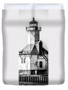 St. Joseph Lighthouse Vertical Panorama Picture  Duvet Cover