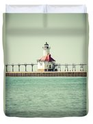 St. Joseph Lighthouse Vintage Picture  Duvet Cover
