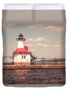 St. Joseph Lighthouse Vintage Picture  Photo Duvet Cover