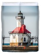 St. Joseph Michigan Lighthouse Picture  Duvet Cover by Paul Velgos