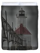 St. Joseph North Pier Lighthouse Lake Michigan Duvet Cover