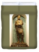 St Joseph The Worker Duvet Cover by Philip Ralley