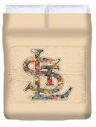 St Louis Cardinals Logo Vintage Duvet Cover