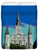 St Louis Cathedral 3 Duvet Cover