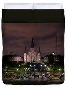 St. Louis Cathedral In Jackson Square Duvet Cover