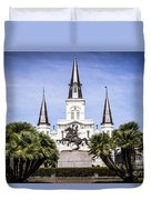 St. Louis Cathedral In New Orleans  Duvet Cover